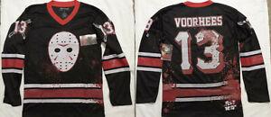 Friday The 13th Horror Movie Jason Voorhees Bloody Hockey Jersey Shirt