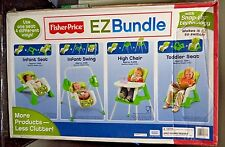 FISHER PRICE EZ BUNGLE SWING HIGH CHAIR + 4 IN 1 SNAP-FIT TECH T3643  *NEW*