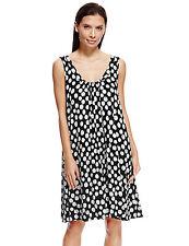 Marks & Spencer Womens Holiday Beach Vest Dress M&S Sleeveless Black White Spot