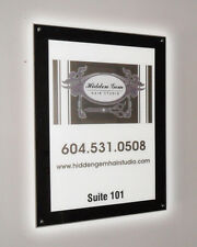 Black Acrylic Backlit Illuminated LED Poster Frame (Countertop - 10 in x 13 in)