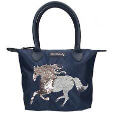 Depesche 10594 Pferd Miss Melody Handtasche Streich -Pailletten blau