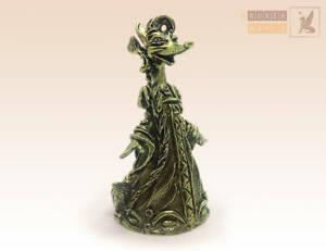 """""""Beauty Fox"""" Souvenir Bell  Figure Statue BronZamania B3943"""