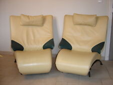 anciens fauteuils cuir design memphis milano 1980 ettore sottsass lounge chair