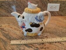 OTAGIRI Farm Animals Musical Teapot Cow Chicken Sheep Mint