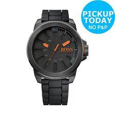 Hugo Boss Orange Men's 1513004 New York Plastic Strap Black Dial Analogue Watch
