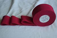 "10 yard roll 1 1/2"" garnet red vtg cotton rayon petersham ribbon millinery hat"