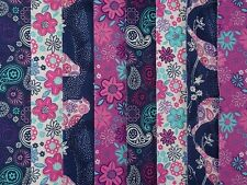 24 JELLY ROLL STRIPS 100% COTTON PATCHWORK FABRIC PAISLEY BIRD 22 INCH LONG