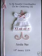 Personalised Goddaughter Godson 'Christening Gown' Card