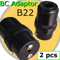 2 pcs B22 Adapter BC bulb Lamp Holder connector DIY Light Fitting Accessories AC