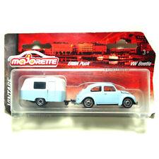 Majorette Model Car metal Two Pack Vintage VW Volkswagen Beetle Trailer Eriba
