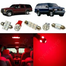 16x Red LED lights interior package kit for 1995-1999 Chevy/GMC Suburban CS2R