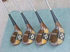 PERSIMMON Powerbilt H & B Lady Golf Clubs RH set Womens SOLID Woods Driver 2 3 4
