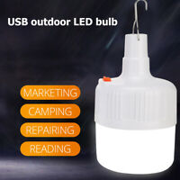 Portable LED Camping Light Bulb USB Rechargeable Tent Lamp BBQ HikingEmergency