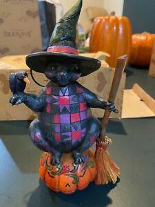 Jim Shore Wicked Kitty Halloween Cat