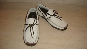 SPORTY NWB ROCKPORT CASUAL SLIP ONS SHOES IN OFF WHITE LEATHER