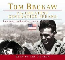 The Greatest Generation Speaks (Tom Brokaw) Brokaw, Tom Audio CD