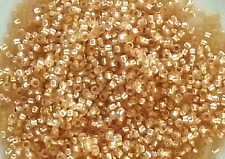 15/0 Silver-Lined Milky Lt Topaz Round Glass TOHO Seed Beads 10 grams #2110