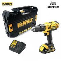 De Walt Drill 18V 1.3Ah Li-ion Cordless Combi Drill Driver + Case + Battery SET