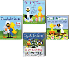 DUCK and GOOSE Easter Bunny,Goose Needs Hug,How Are You Feeling  (bb) 4 Books