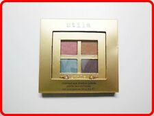 NEW Stila 24KT Charmed Eye Shadow Palette Quad 4 Blue Pink Purple Brown Beige