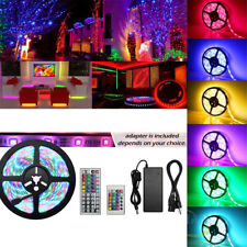 Dimmable LED Strip 300SMD 5050 3528 RGB Colour Changing Rope Home Party Lighting