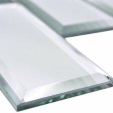 Spiegel Glas Mosaik Metro Fliesen Reflexion Rechteck 73 | Badezimmer Disco Bar