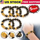 5 Pack Feng Shui Black Obsidian Bead PiXiu Bracelet Jewelry / Wealth & Good Luck