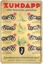 Blechschild 20x30 Zündapp Programm Kult Motorrad Werbung Plakat Metall Schild
