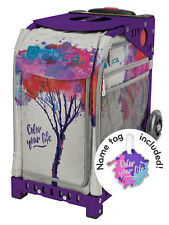 ZUCA Bag COLOR YOUR LIFE Insert & Purple Frame w/Flashing Wheels - FREE CUSHION