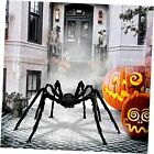 4.9ft Giant Spider for Halloween Decorations,Black Hairy Spider Halloween