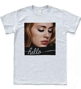 Adele HELLO T-shirt Soul Music 25 Album British Singer Tee