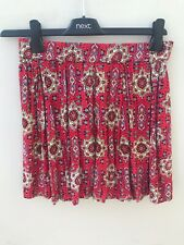 New Look Red Skirt UK Size 6