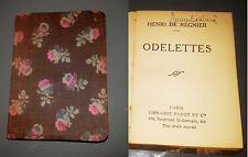 ODELETTES HENRI DE REGNIER  POESIE  poèmes Miniature Payot