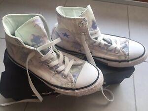 Scarpe Bambina Ragazza Sneakers Converse Tg 33.5 Primavera/Estate Usate