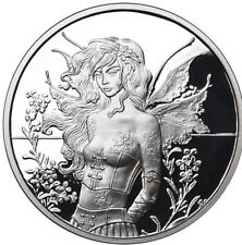 1 OZ 999 SILVER PROOF ROUND COIN WALL FLOWER AMY BROWN COLLECTION BULLION COA