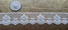A36 Vintage Machine Lace Trim Floral Edging 9yds Yards Bridal Wedding
