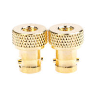 2X BNC female jack to SMA male plug RF connector straight gold plating adapte uW