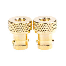 2Pcs BNC female jack to SMA male plug RF connector straight.gold plating'adaptS^