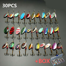 Metal Spinners Fishing Lures Sea Trout Pike Perch Salmon Bass Fishing Tackle new
