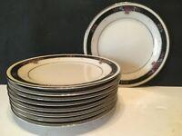 "Set of 9 Noritake China ETIENNE 6 1/2"" Bread & Butter Plates UNUSED Japan"
