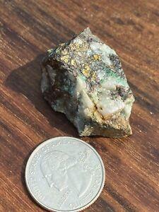 Gold, Silver, Copper, Iron, & Pyrite In Quartz Specimen