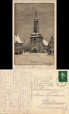 Ansichtskarte Glückstadt Lykstad Stadtkirche - signierte Künstlerkarte 1932