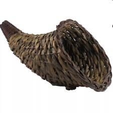 Thanksgiving Horn o Plenty Basket 9x14 Fall Harvest Table Centerpiece Cornucopia