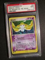 PSA-9 Pokemon JIRACHI Card EX TEAM MAGMA VS AQUA Set 97/95 Secret Rare Holo MINT