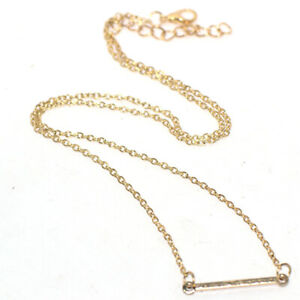 Womens Stick Pendant Chain Necklace Jewelry 9K Gold Filled Choker 20 In Long