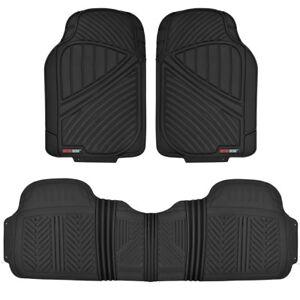 Motor Trend Rubber Floor Mats for Car SUVs Van All Weather 100% Odorless - Black