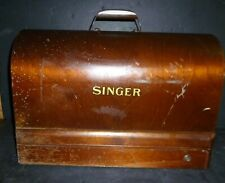 Singer Portable Sewing Machine 1930's in Bent Wood Case  #JB400591 All Original