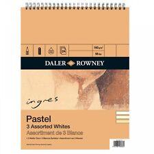 """Daler Rowney Ingres Pastel 3 Assorted Whites Spiral Pad 16 x 12"""""""