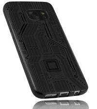 mumbi Hülle für Samsung Galaxy S7 CASE Schutzhülle Motiv Tasche Schutz Schwarz