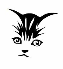 Cat,Kitten Face Vinyl Sticker Decal Car,Laptop,Window FREE POST